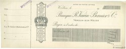 Francs FRANCE régionalisme et divers Verdun-Sur-Meuse 1900 DOC.Chèque SUP