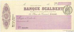 Francs FRANCE régionalisme et divers Lille 1933 DOC.Chèque SUP