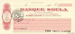 Francs FRANCE régionalisme et divers BORDEAUX 1930 DOC.Chèque SUP