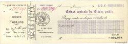 Francs FRANCE régionalisme et divers PARIS 1928 DOC.Chèque SUP