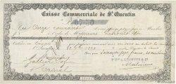 67,50 Francs FRANCE régionalisme et divers SAINT QUENTIN 1860 DOC.Mandat TTB