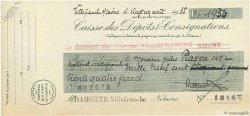 1934 Francs FRANCE régionalisme et divers VILLEFRANCHE SUR SAÔNE 1935 DOC.Chèque TTB