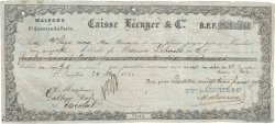 83,70 Francs FRANCE régionalisme et divers SAINT QUENTIN 1860 DOC.Mandat TB