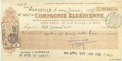 95000 Francs FRANCE régionalisme et divers PARIS 1927 DOC.Chèque TTB