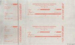 Francs FRANCE régionalisme et divers NOUMÉA (NOUVELLE CALÉDONIE) 1872 DOC.Chèque SUP
