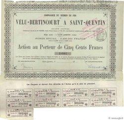 500 Francs FRANCE régionalisme et divers SAINT QUENTIN 1875 DOC.Chèque TTB