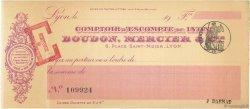 Francs FRANCE régionalisme et divers LYON 1900 DOC.Chèque SUP