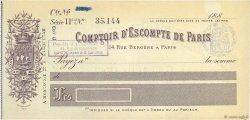 Francs FRANCE régionalisme et divers Paris 1880 DOC.Chèque SUP