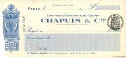 Francs FRANCE régionalisme et divers PARIS 1913 DOC.Chèque TTB