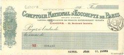 Francs FRANCE régionalisme et divers CAHORS 1920 DOC.Chèque SUP