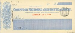 Francs FRANCE régionalisme et divers LYON 1874 DOC.Chèque SPL