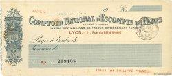 Francs FRANCE régionalisme et divers Lyon 1915 DOC.Chèque TTB