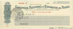 Francs FRANCE régionalisme et divers Reims 1920 DOC.Chèque SPL