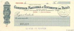 Francs FRANCE régionalisme et divers Rennes 1915 DOC.Chèque SPL