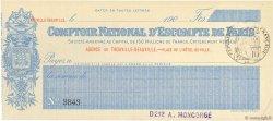 Francs FRANCE régionalisme et divers TROUVILLE-DEAUVILLE 1900 DOC.Chèque NEUF