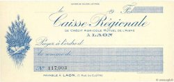 Francs FRANCE régionalisme et divers Laon 1920 DOC.Chèque NEUF