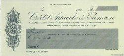 Francs FRANCE régionalisme et divers Tlemcem 1930 DOC.Chèque SPL