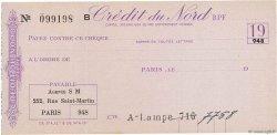Francs FRANCE régionalisme et divers PARIS 1920 DOC.Chèque SUP