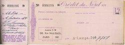Francs FRANCE régionalisme et divers PARIS 1920 DOC.Chèque TTB