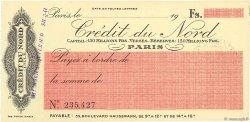 Francs FRANCE régionalisme et divers PARIS 1924 DOC.Chèque SPL