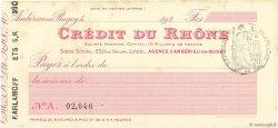 Francs FRANCE régionalisme et divers AMBÉRIEU-EN-BUGEY 1924 DOC.Chèque SUP