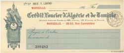 Francs FRANCE régionalisme et divers MARSEILLE 1920 DOC.Chèque SUP
