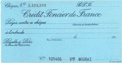 Francs FRANCE régionalisme et divers PARIS 1925 DOC.Chèque SPL
