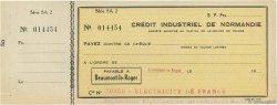 Francs FRANCE régionalisme et divers Beaumont-Le-Roger 1932 DOC.Chèque SUP