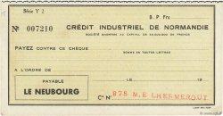 Francs FRANCE régionalisme et divers Le Neubourg 1932 DOC.Chèque SUP