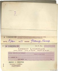 Francs FRANCE régionalisme et divers ANTIBES 1939 DOC.Chèque TTB