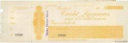 Francs FRANCE régionalisme et divers BRUXELLES (BELGIQUE) 1900 DOC.Chèque TTB