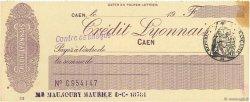 Francs FRANCE régionalisme et divers Caen 1933 DOC.Chèque SUP