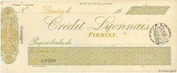Francs FRANCE régionalisme et divers Firminy 1900 DOC.Chèque SUP