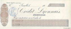 Francs FRANCE régionalisme et divers Grenoble 1871 DOC.Chèque SPL