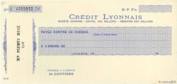 Francs FRANCE régionalisme et divers LOUVIERS 1930 DOC.Chèque SUP