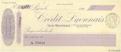 Francs FRANCE régionalisme et divers Lyon 1920 DOC.Chèque SUP
