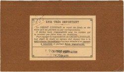 Francs FRANCE régionalisme et divers LYON 1932 DOC.Chèque SUP