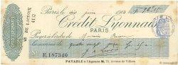 96,15 Francs FRANCE régionalisme et divers PARIS 1914 DOC.Chèque SUP