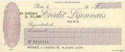 Francs FRANCE régionalisme et divers PARIS 1924 DOC.Chèque SUP