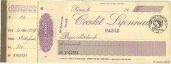 Francs FRANCE régionalisme et divers PARIS 1925 DOC.Chèque TTB