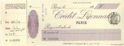 Francs FRANCE régionalisme et divers PARIS 1929 DOC.Chèque SPL