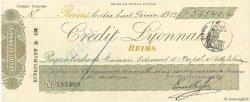 56540,60 Francs FRANCE régionalisme et divers REIMS 1913 DOC.Chèque SUP