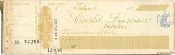 Francs FRANCE régionalisme et divers TOULOUSE 1871 DOC.Chèque TTB