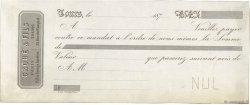 Francs FRANCE régionalisme et divers TOURS 1870 DOC.Mandat TTB