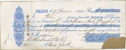 94,80 Dollars FRANCE régionalisme et divers Paris 1880 DOC.Lettre TB