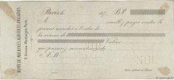 Francs FRANCE régionalisme et divers PARIS 1872 DOC.Mandat TTB