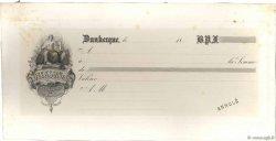 Francs FRANCE régionalisme et divers Dunkerque 1850 DOC.Chèque SUP