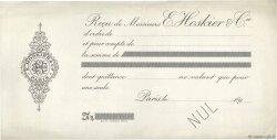 Francs FRANCE régionalisme et divers PARIS 1890 DOC.Reçu TTB