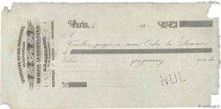 Francs FRANCE régionalisme et divers Paris 1880 DOC.Chèque TB