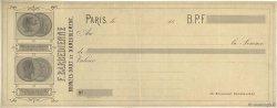 Francs FRANCE régionalisme et divers Paris 1855 DOC.Chèque TTB